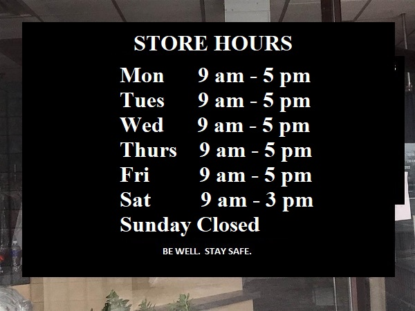 July 2nd new hours Toronto